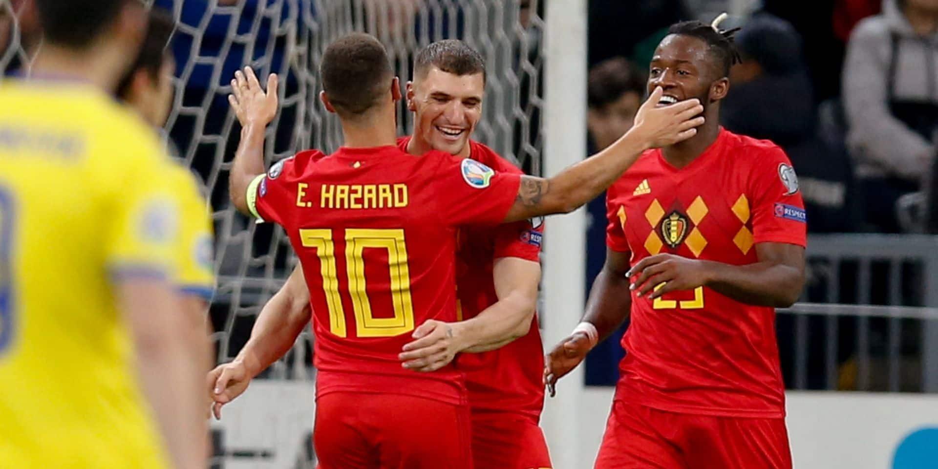 La Belgique l'emporte sans forcer face au Kazakhstan (0-2)