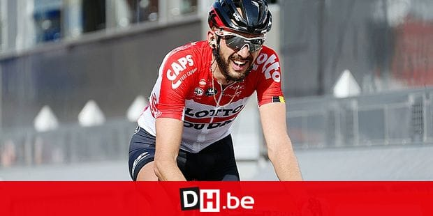 Belgian Jelle Vanendert of Lotto Soudal pictured at the 104th edition of the Liege-Bastogne-Liege one day cycling race, Sunday 22 April 2018, 258 km, in Liege. BELGA PHOTO YUZURU SUNADA