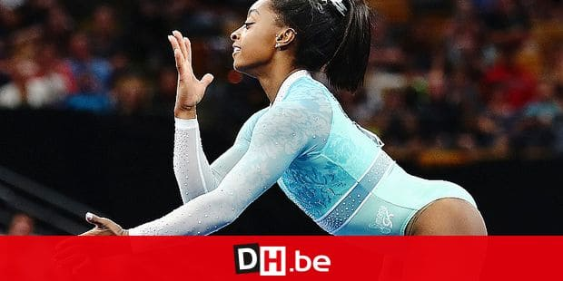 BOSTON, MA - AUGUST 19: Simone Biles performs her floor exercise during day four of the U.S. Gymnastics Championships 2018 at TD Garden on August 19, 2018 in Boston, Massachusetts. Tim Bradbury/Getty Images/AFP == FOR NEWSPAPERS, INTERNET, TELCOS & TELEVISION USE ONLY ==