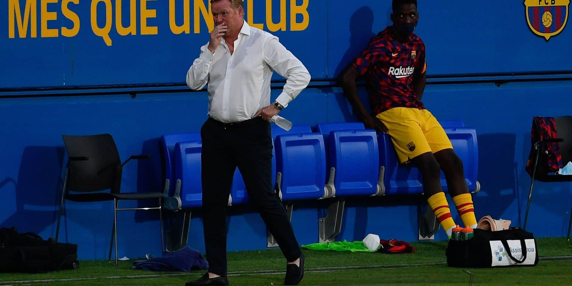 Ronald Koeman doit attendre l'autorisation de la fédération espagnole pour prendre place sur le banc du Barça