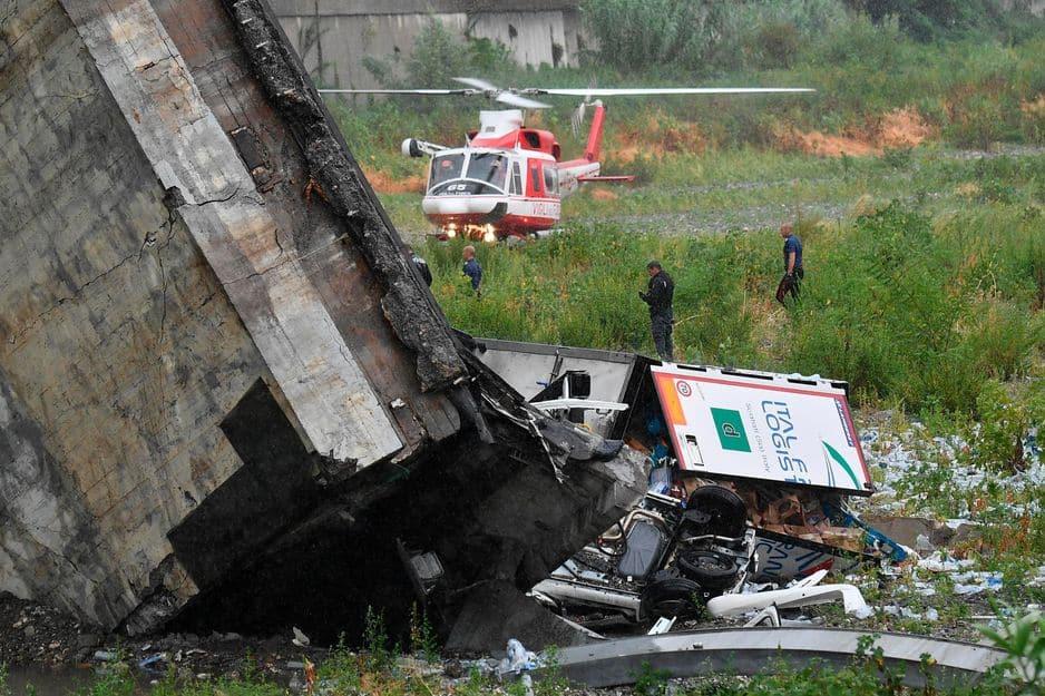 Un viaduc s'écroule et fait au moins 30 morts — Italie