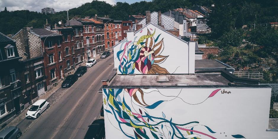 Liège: une nouvelle fresque de l'opération Paliss'art