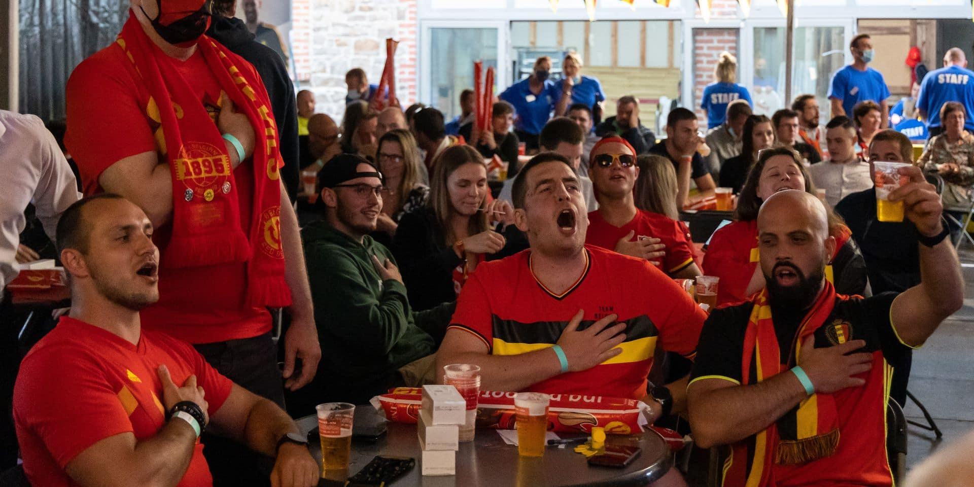 Ils étaient 300 supporters à avoir regardé Belgique-Grèce sur écran géant: résultats très encourageants pour l'événement-test!