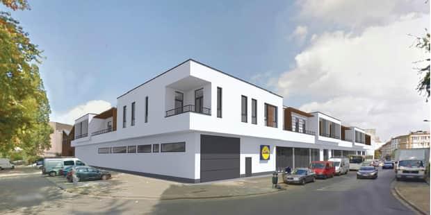 Anderlecht : 19 appartements sur le toit du nouveau Lidl - La DH