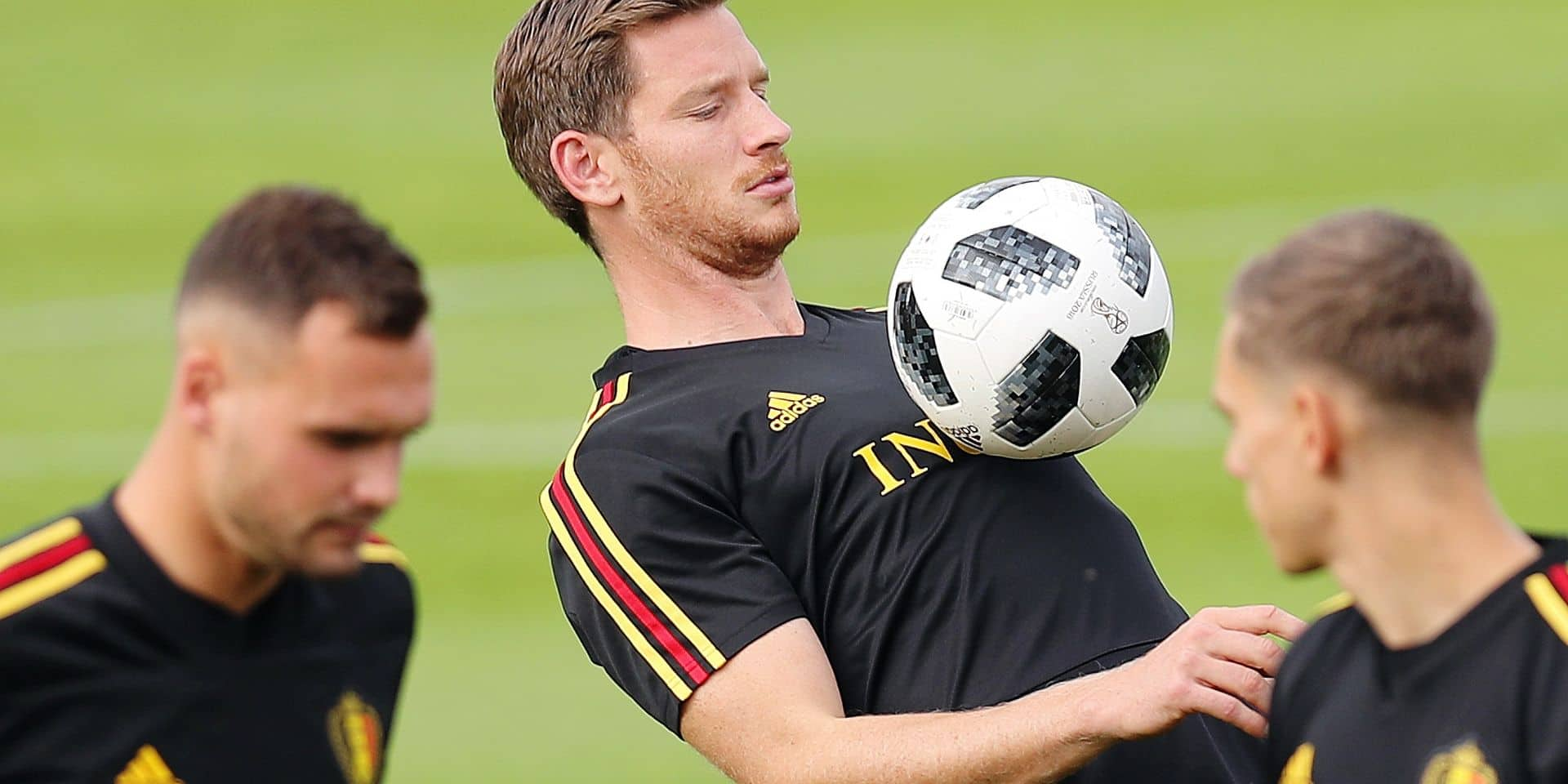 Belgium's Jan Vertonghen pictured during a training session of Belgian national soccer team the Red Devils in Tubize, Tuesday 04 September 2018. The team is preparing for a friendly match against Scotland on 07 September and the UEFA Nations League match against Iceland on 11 September. BELGA PHOTO BRUNO FAHY