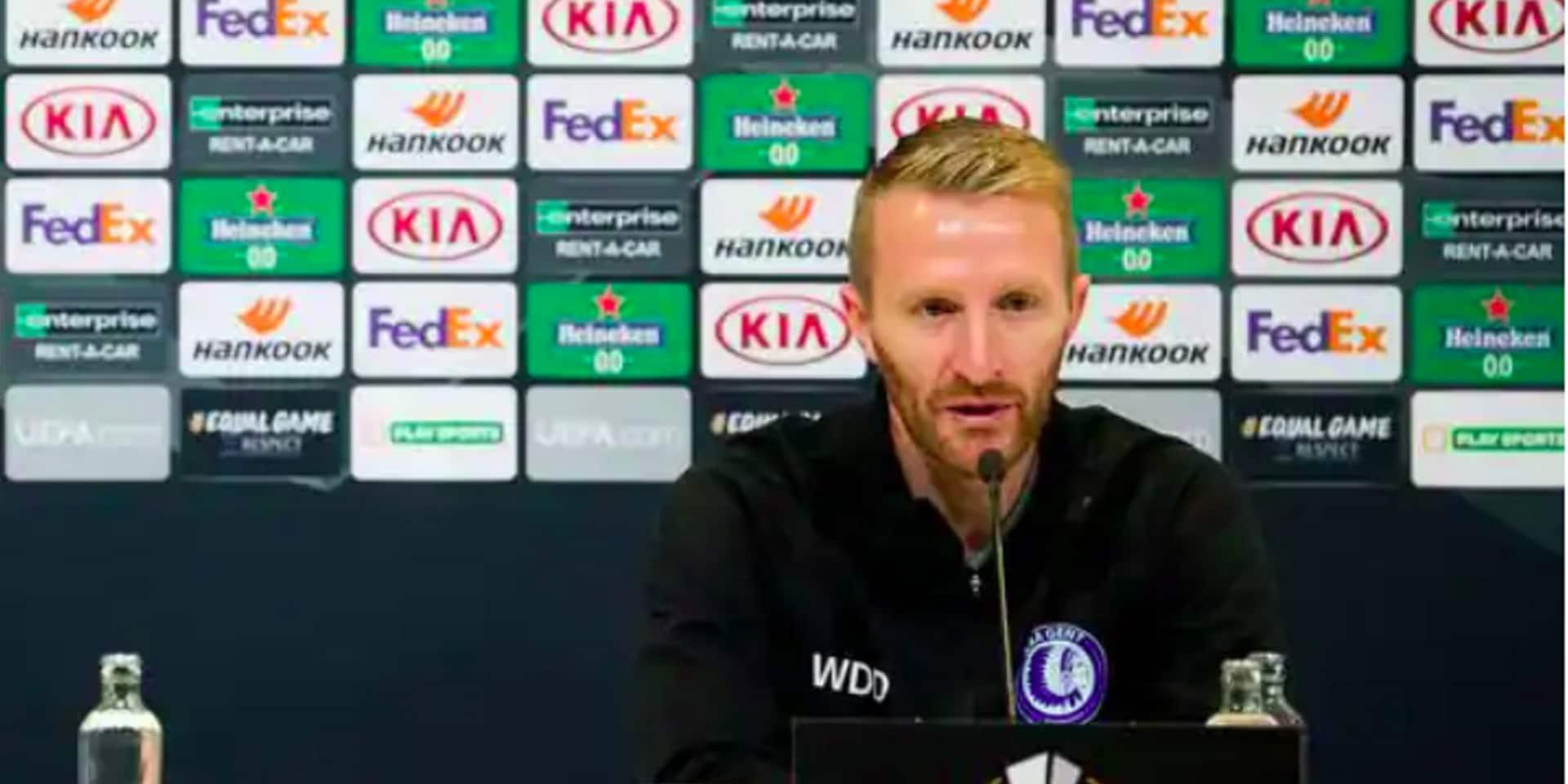 Wim de Decker, entraîneur de La Gantoise, positif au Covid-19: il ne se rendra pas à Belgrade