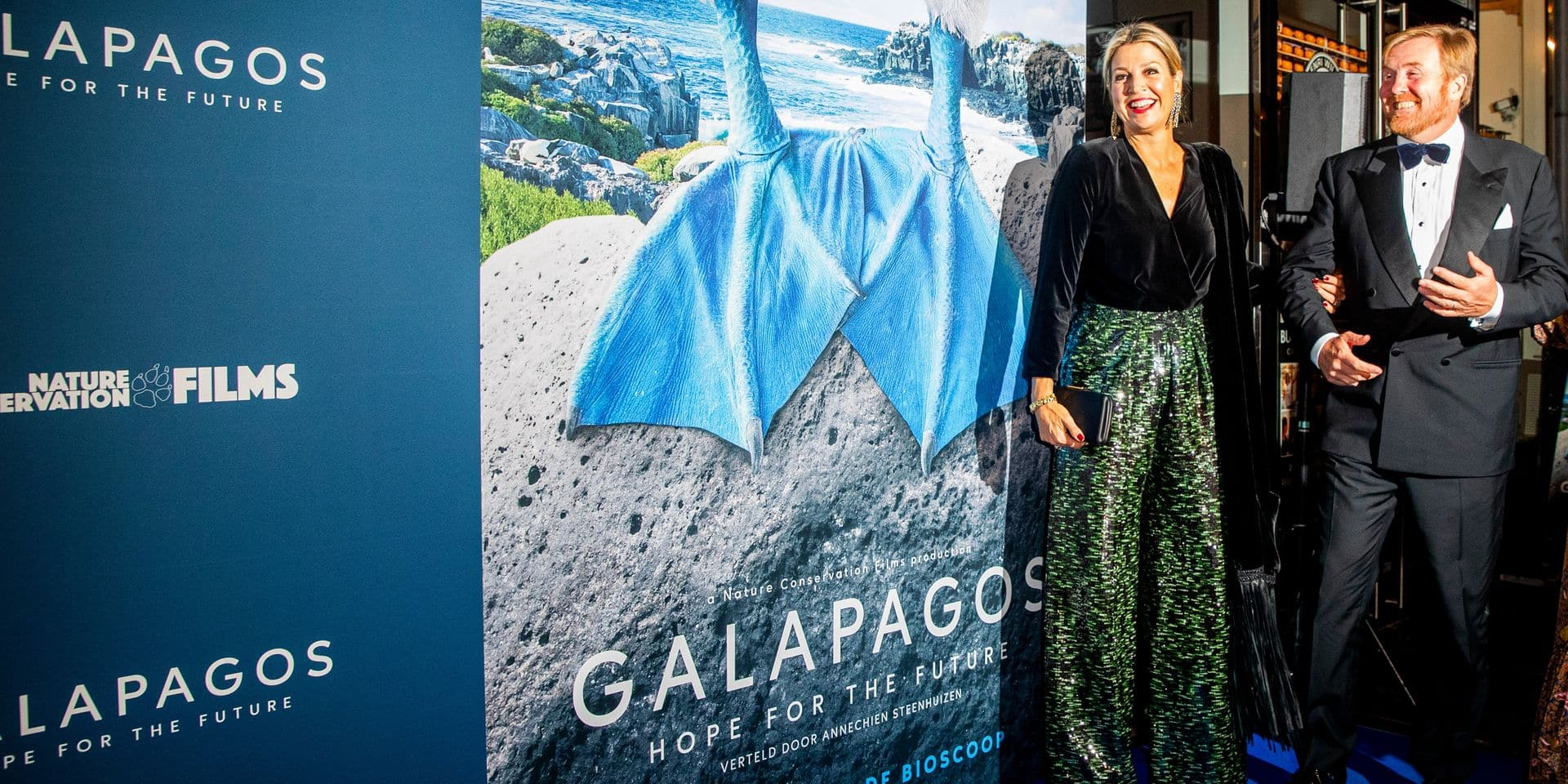 King Willem-Alexander and Queen Maxima at premiere Galapagos