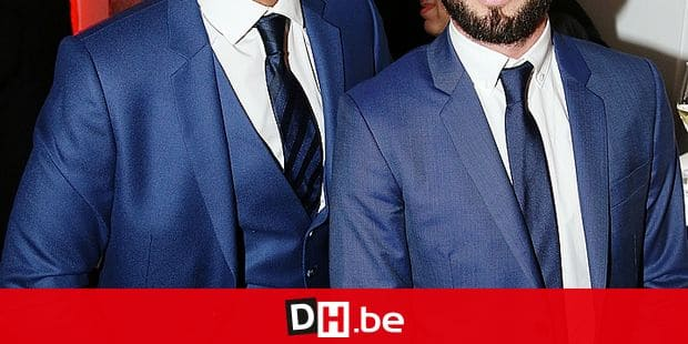 """Christophe Beaugrand and his boyfriend Ghislain Gerin attending at """"LINK pour AIDES"""" dinner held at the Pavlllon Cambon in Paris, in Paris, France on December 11, 2017. Photo by Jerome Domine/ABACAPRESS. COM Reporters / Abaca"""