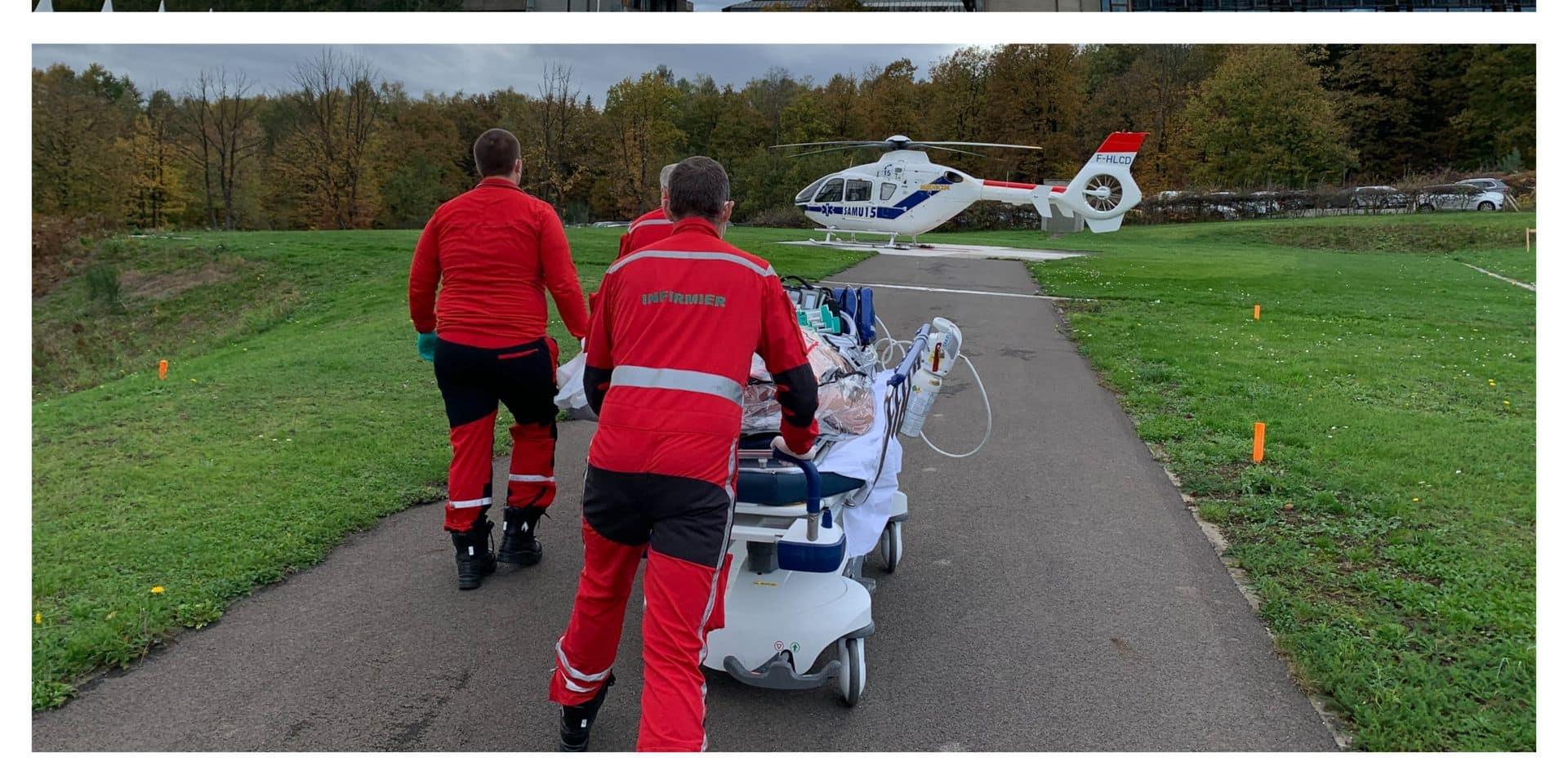 Covid-19 : en hélicoptère de Liège à Anvers !