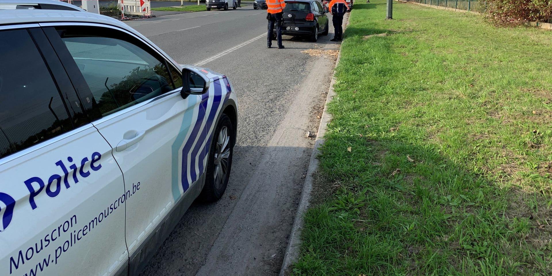 Mouscron: trois personnes interpellées suite à un contrôle routier mené par la zone de police