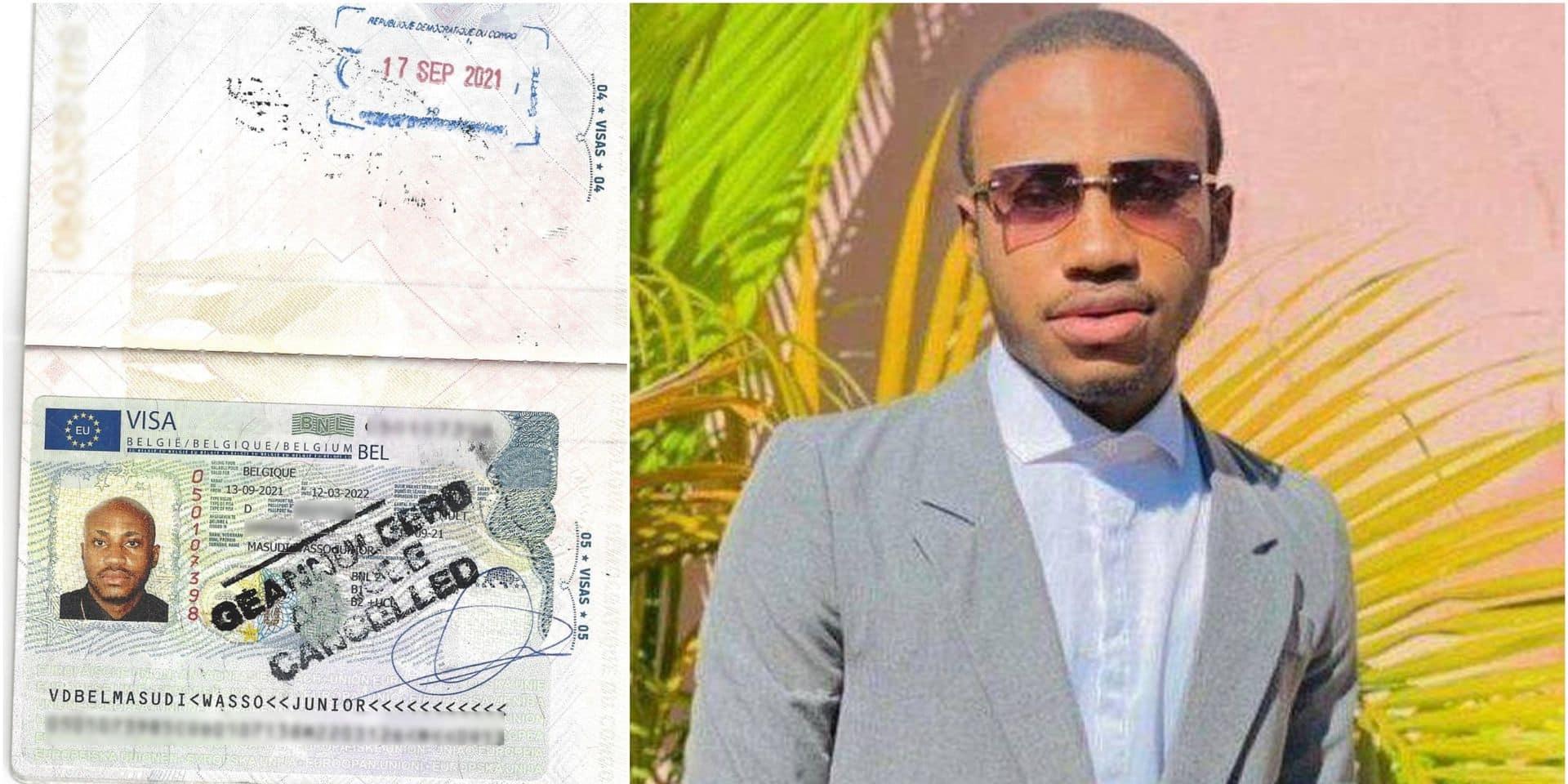 Junior, l'étudiant congolais admis en Belgique... pour deux semaines