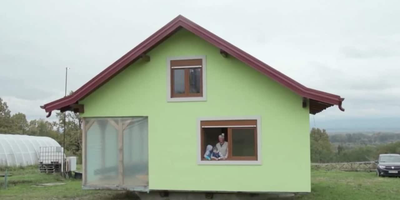 Insolite: fatigué de devoir faire des travaux à la demande de sa femme, il lui construit une maison qui tourne sur elle-même !