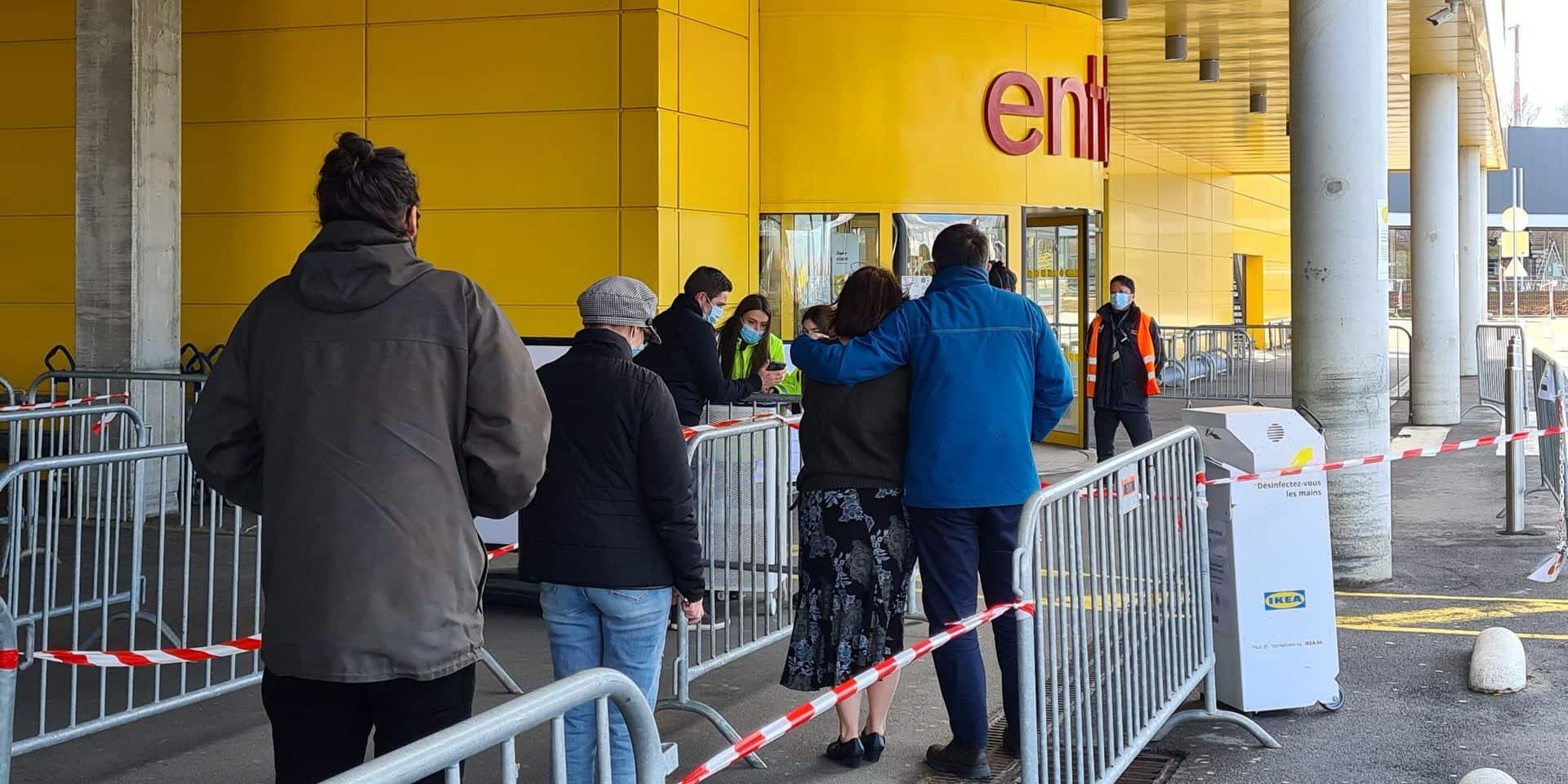 De 1 040 à 50 clients en même temps chez Ikea Liège!
