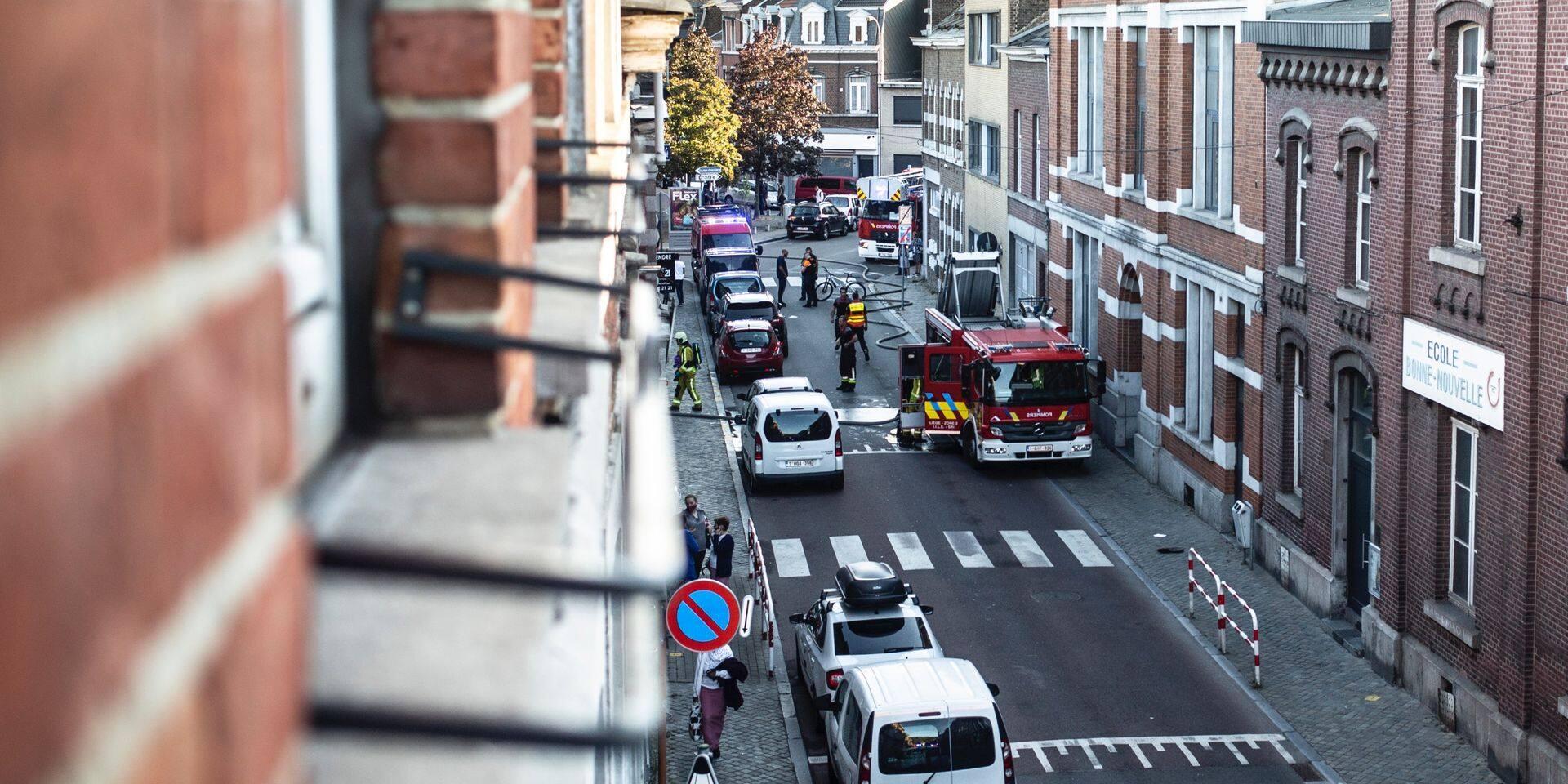 Incendie ce mardi soir dans le quartier Saint-Léonard