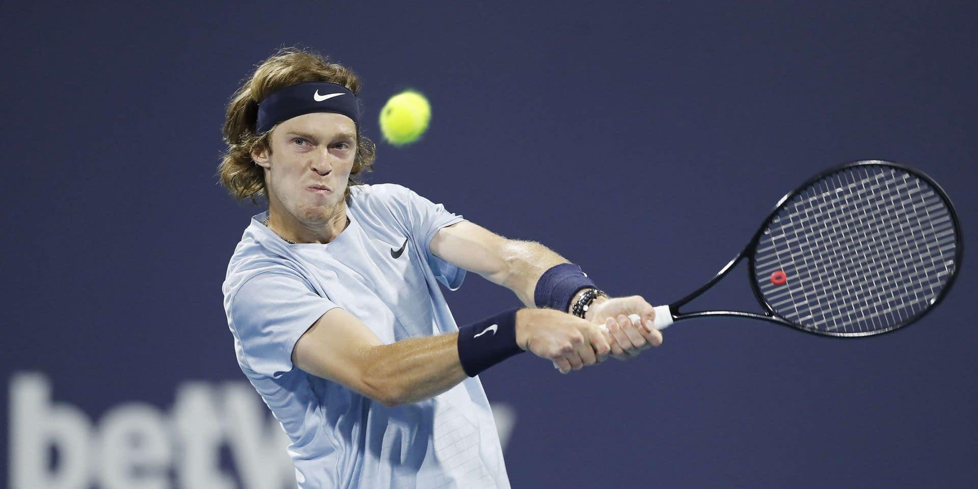 ATP Miami: Andrey Rublev complète le dernier carré en Floride