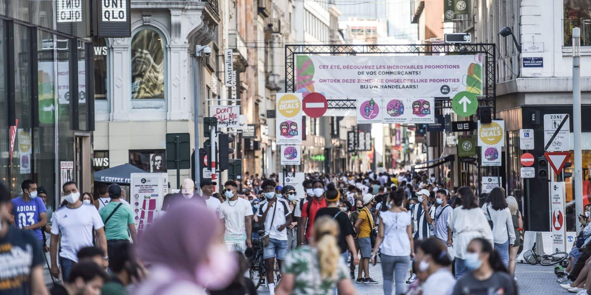 Bruxelles: pas de changement au niveau des mesures, malgré la récente hausse du nombre de cas de coronavirus