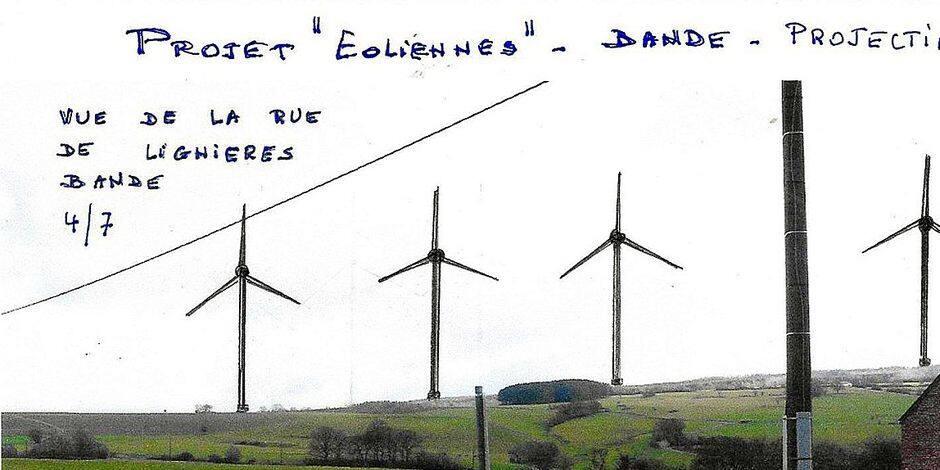 Un projet éolien sur les hauteurs de Bande