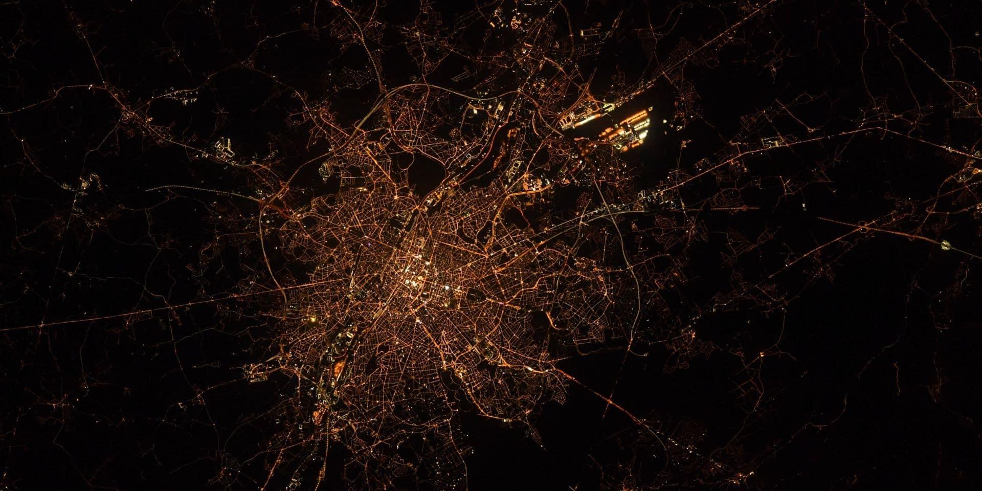 Une photo de Bruxelles vue de l'espace envoyée par un astronaute