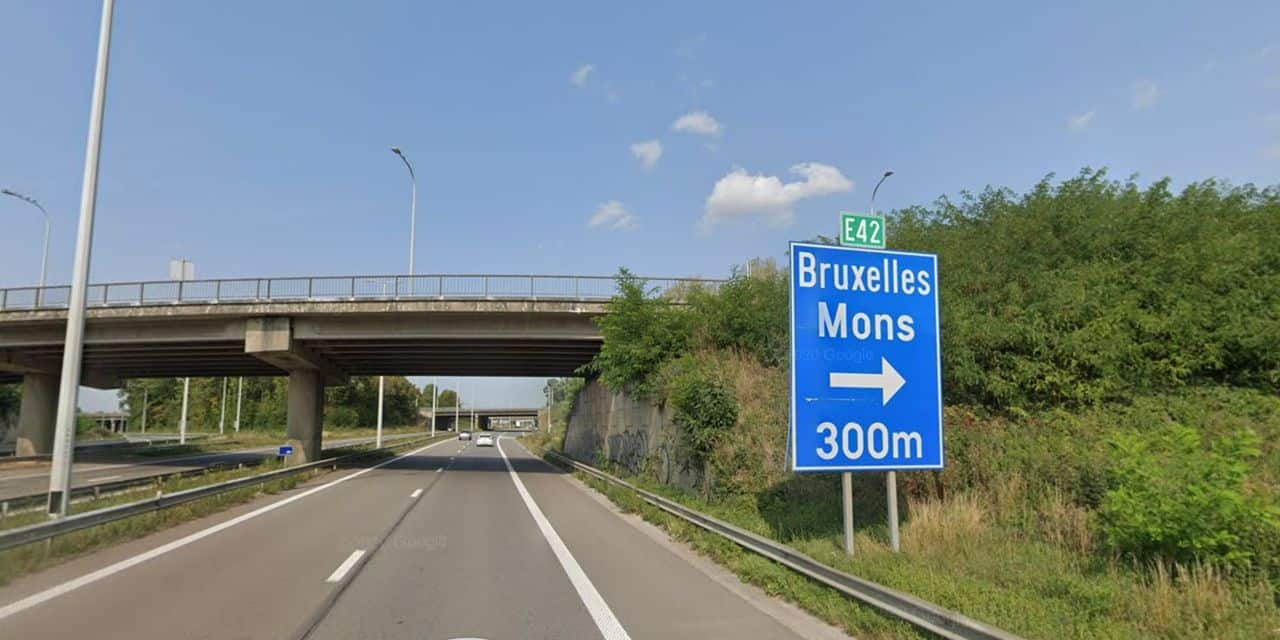 Echangeur d'Heppignies: Fermeture pendant un mois de la bretelle reliant le R3 depuis Châtelet/Gilly à l'E42 en direction de Mons