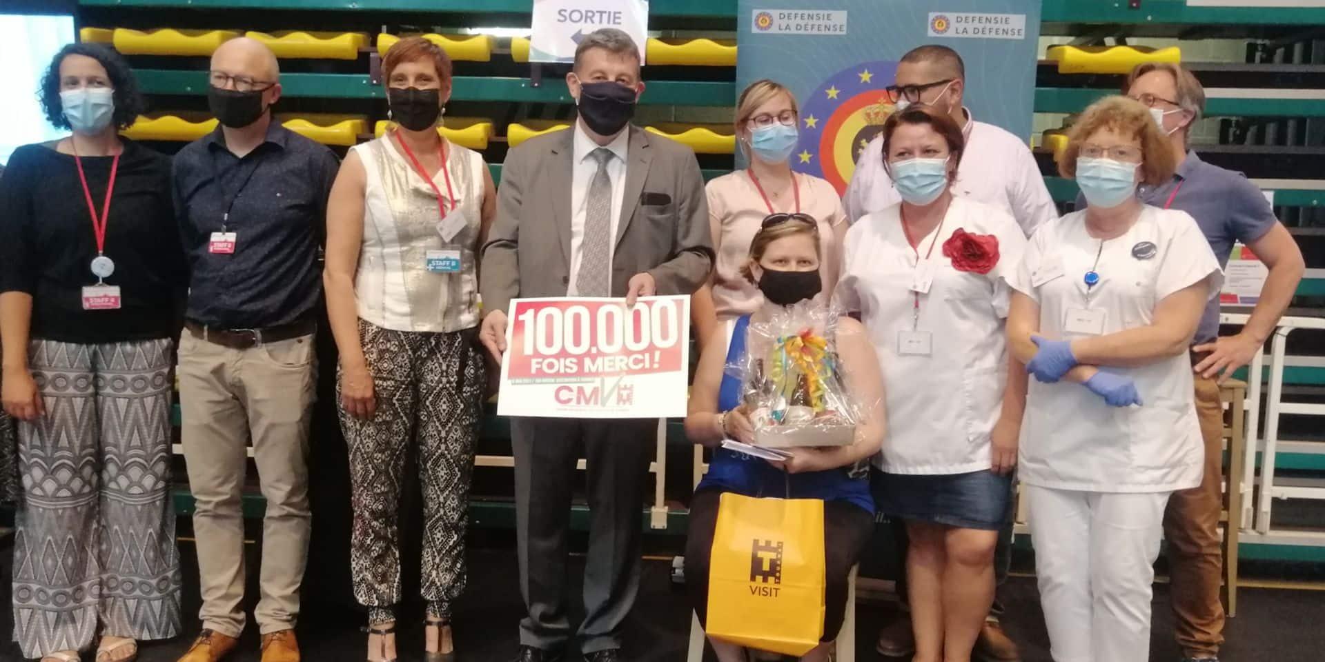 Le centre de vaccination de Tournai a administré la 100 000e injection !