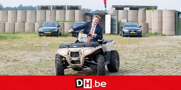 31-05-2018 Soesterberg King Willem-Alexander visiting the Fieldlab Smartbase, an army testing area for innovative solutions with the private sector, in Soesterberg. © PPE/pool Reporters / PPE