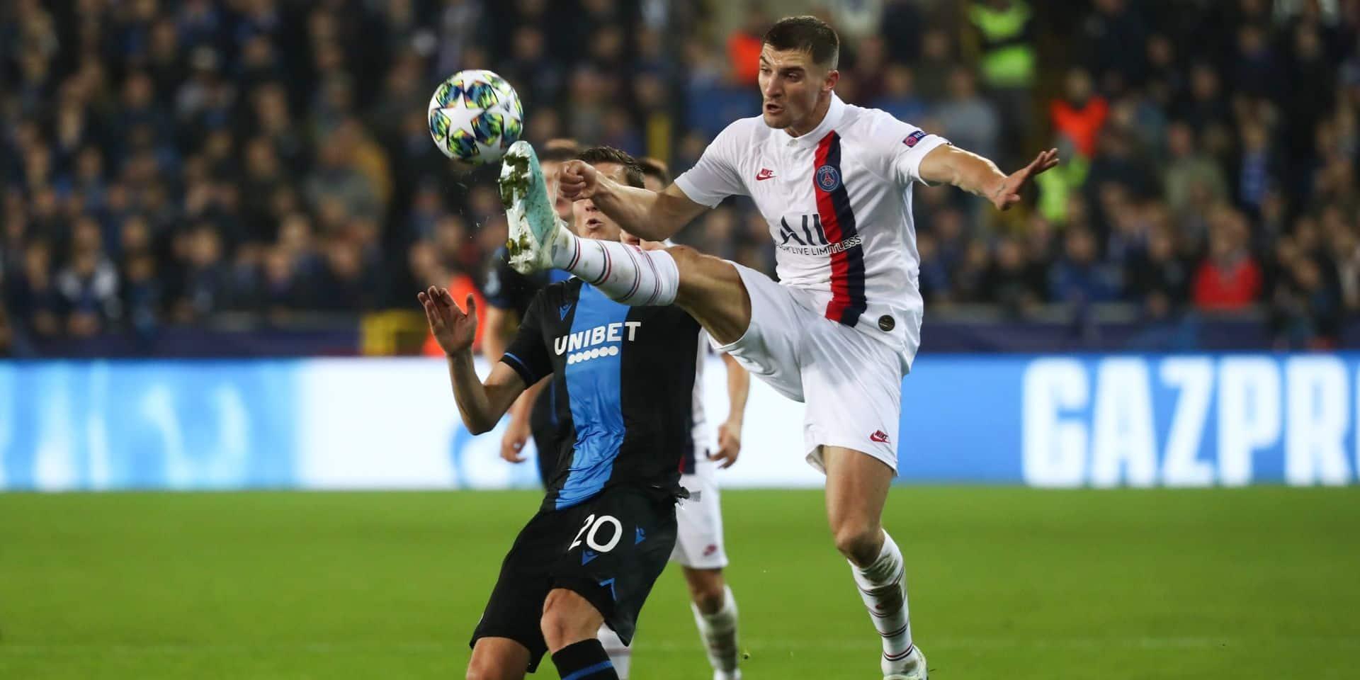 Bruges-PSG: Un match sans histoire pour Thomas Meunier