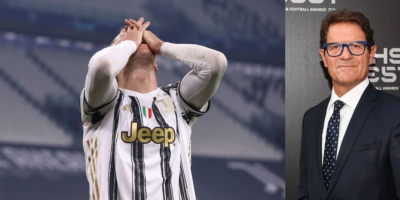 Fabio Capello fustige le comportement de Ronaldo sur le but de la qualif de Porto: