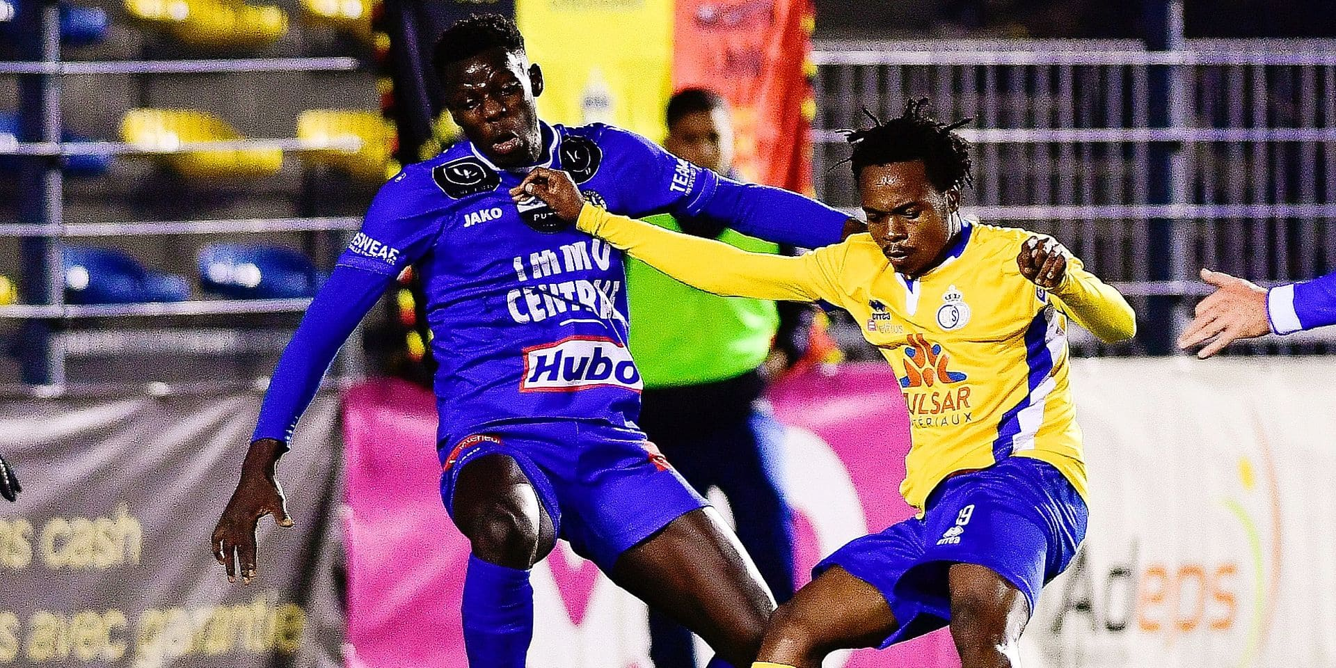 Union's Percy Tau scores a goal during a soccer game between Royale Union Saint-Gilloise (1B second division) and Royal Knokke FC (1st Amateur division), Thursday 06 December 2018 in Brussels, in the 1/8th finals of the 'Croky Cup' Belgian cup. BELGA PHOTO LAURIE DIEFFEMBACQ
