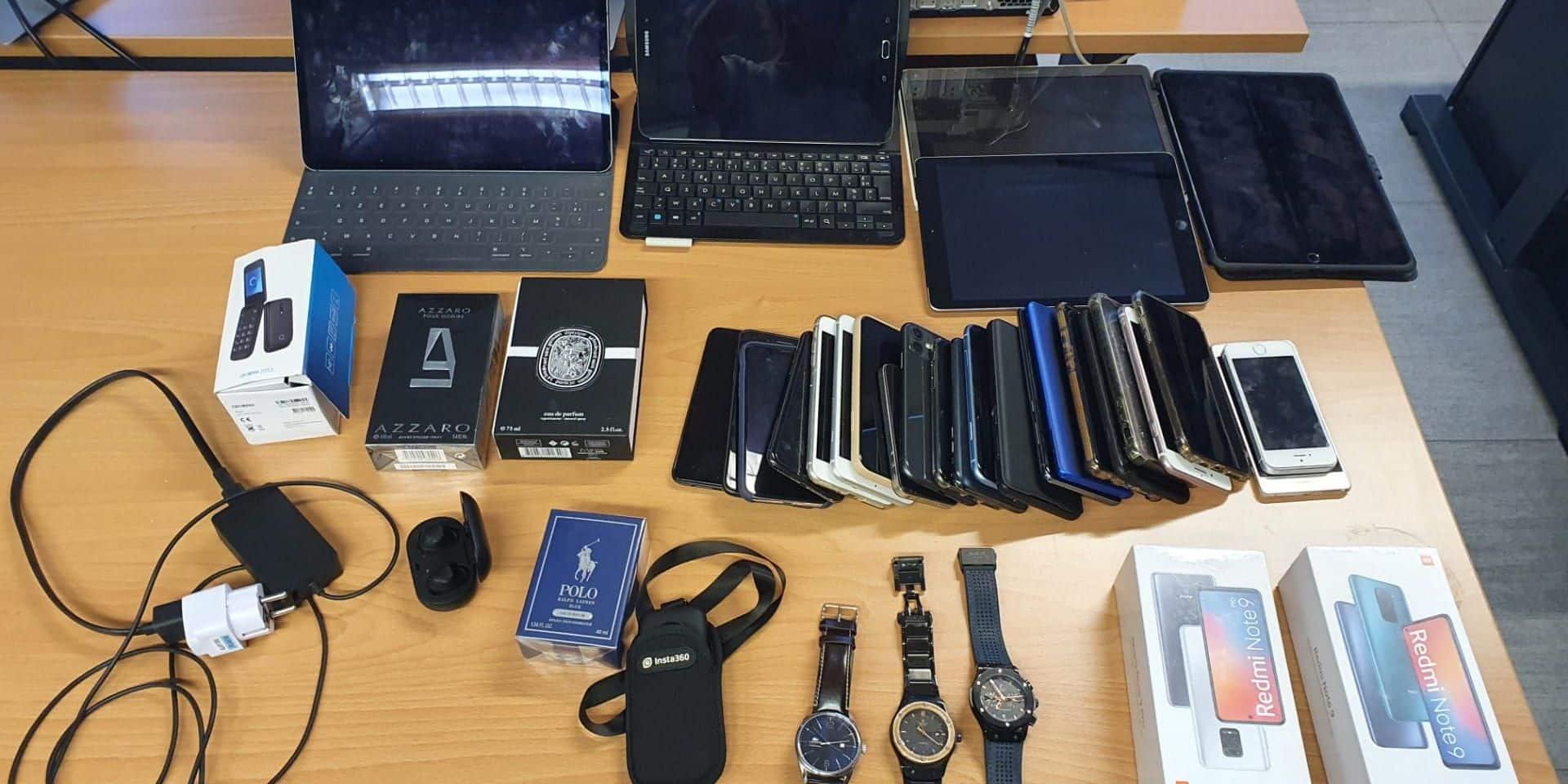 Quatre receleurs arrêtés, plus de mille objets volés retrouvés à Schaerbeek et Anderlecht