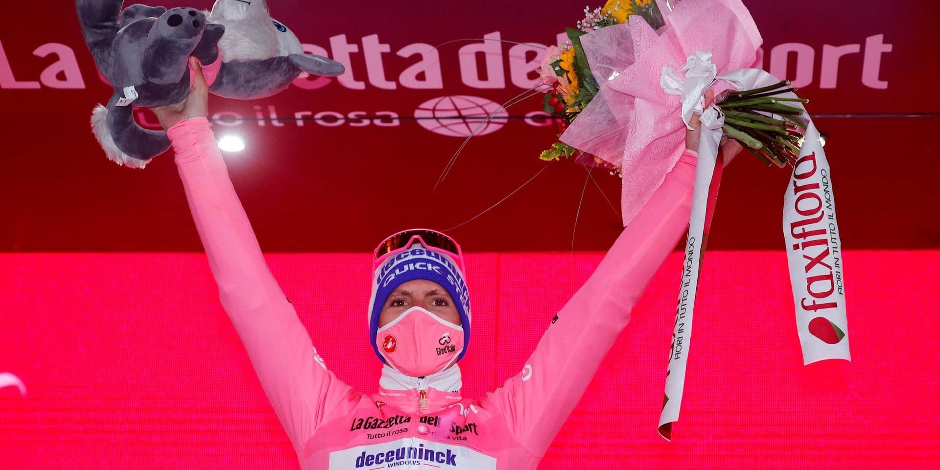 """Giro: le Portugais Joao Almeida bon pour une 10e journée en rose: """"l'étape a été très dure"""""""
