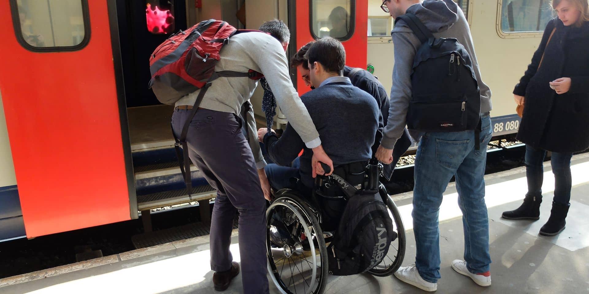 gare du nord sncb service handicape PMR train
