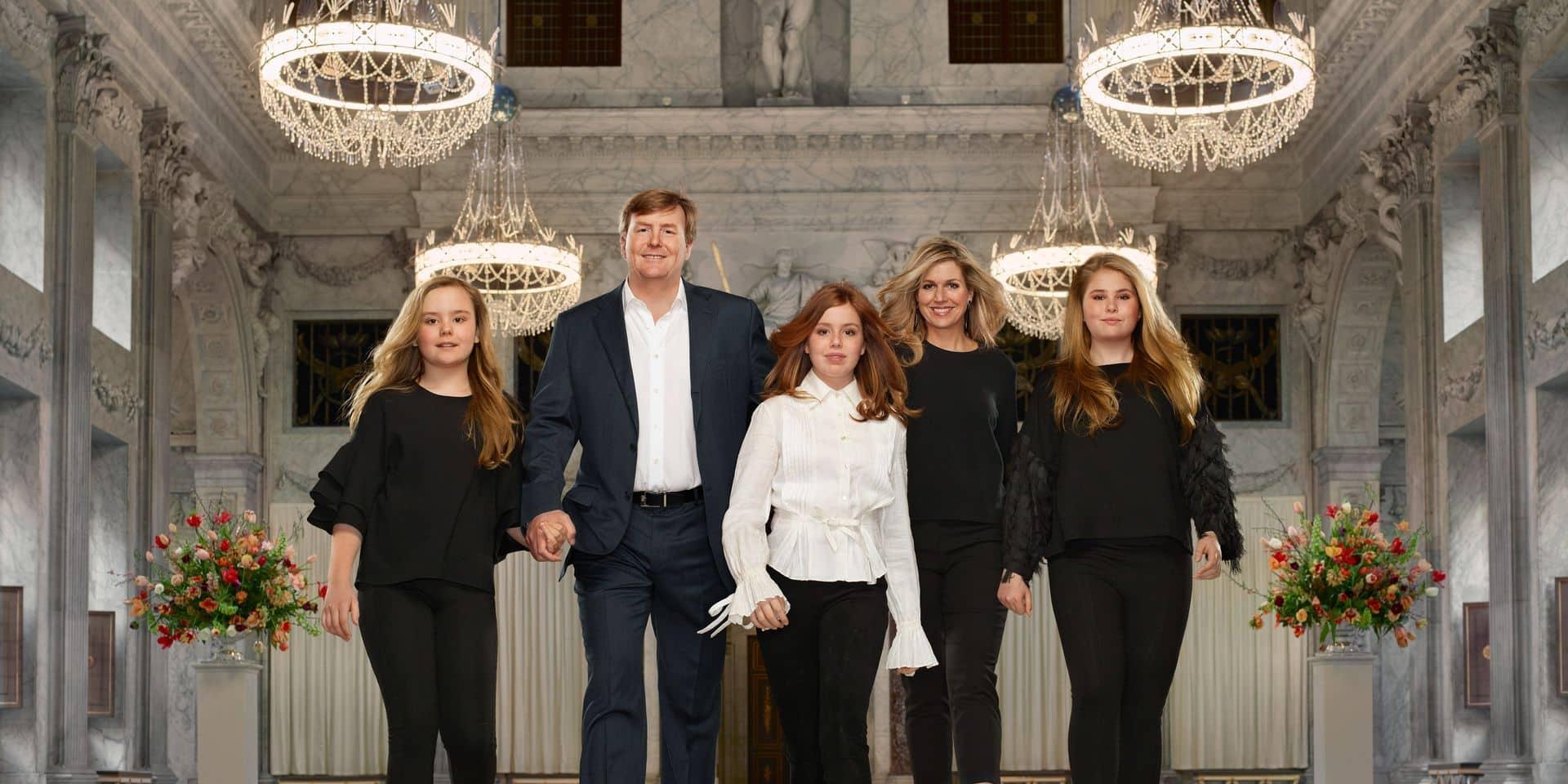La famille royale des Pays-Bas dévoile ses nouveaux portraits